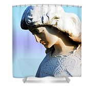 The Face Of An Angel Shower Curtain by Susanne Van Hulst