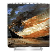 The Fate Of The Rebel Flag Shower Curtain by War Is Hell Store