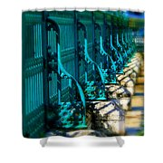 The Fence Shower Curtain by Perry Webster