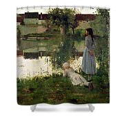 The Ferry Shower Curtain by William Stott