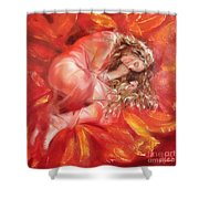 The Flower Paradise Shower Curtain by Sergey Ignatenko