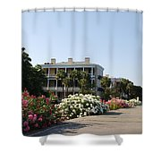 The Flowers At The Battery Charleston Sc Shower Curtain by Susanne Van Hulst