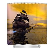 The Flying Dutchman Shower Curtain by Corey Ford
