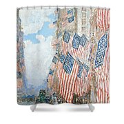 The Fourth of July Shower Curtain by Childe Hassam