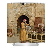 The Furniture Maker Shower Curtain by Ludwig Deutsch