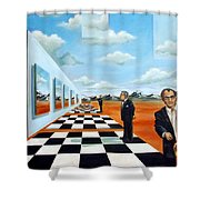 The Gallery Shower Curtain by Valerie Vescovi