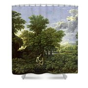 The Garden of Eden Shower Curtain by Nicolas Poussin