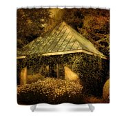 The Gatehouse Shower Curtain by Lois Bryan