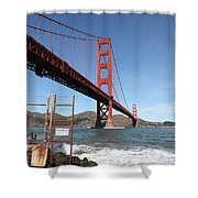 The Golden Gate Bridge At Fort Point - 5d21473 Shower Curtain by Wingsdomain Art and Photography