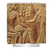 The Golden Shrine Of Tutankhamun Shower Curtain by Egyptian Dynasty