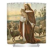 The Good Shepherd Shower Curtain by John Lawson