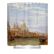 The Grand Canal - Venice Shower Curtain by George Clarkson Stanfield