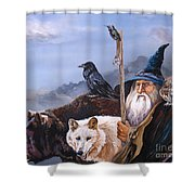 The Grand Parade Shower Curtain by J W Baker