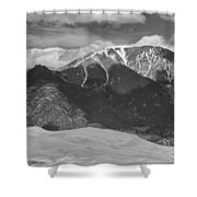 The Great Colorado Sand Dunes  125 Black And White Shower Curtain by James BO  Insogna