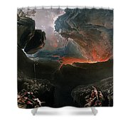The Great Day Of His Wrath Shower Curtain by Charles Mottram