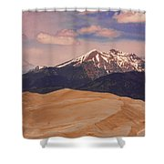The Great Sand Dunes And Sangre De Cristo Mountains Shower Curtain by James BO  Insogna