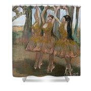 The Greek Dance Shower Curtain by Edgar Degas