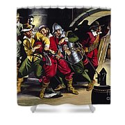The Gunpowder Plot Shower Curtain by Ron Embleton