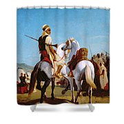The Horse Of Submission Shower Curtain by Louis Eugene Ginain