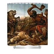 The Hunted Slaves Shower Curtain by Richard Ansdell