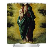 The Immaculate Conception Shower Curtain by Francisco de Zurbaran