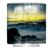 The Infinite Spirit  Tranquil Island Of Twilight Maui Hawaii  Shower Curtain by Sharon Mau