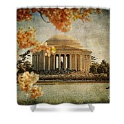 The Jefferson Memorial Shower Curtain by Lois Bryan