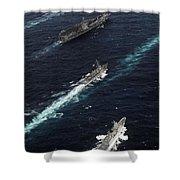 The John C. Stennis Carrier Strike Shower Curtain by Stocktrek Images