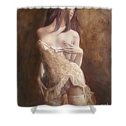 The Laces Shower Curtain by Sergey Ignatenko