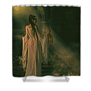 The Lady of Shalott Shower Curtain by Shanina Conway