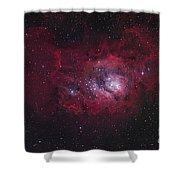 The Lagoon Nebula Shower Curtain by Robert Gendler