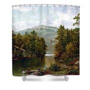 The Lake George Shower Curtain by David Johnson