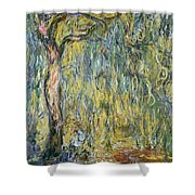 The Large Willow At Giverny Shower Curtain by Claude Monet