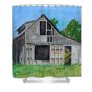 The Last Stage Stop Shower Curtain by Mendy Pedersen