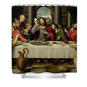 The Last Supper Shower Curtain by Vicente Juan Macip