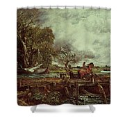 The Leaping Horse Shower Curtain by John Constable