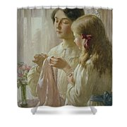 The Lesson Shower Curtain by William Kay Blacklock