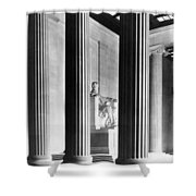 The Lincoln Memorial Shower Curtain by War Is Hell Store