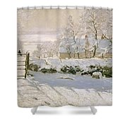 The Magpie Shower Curtain by Claude Monet