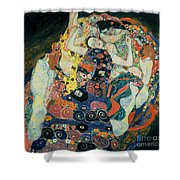 The Maiden Shower Curtain by Gustav Klimt