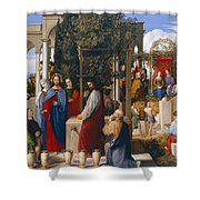 The Marriage at Cana Shower Curtain by Julius Schnorr von Carolsfeld