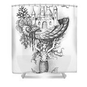 The Mermaid Fantasy Shower Curtain by Adam Zebediah Joseph