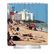 The Miami Beach Shower Curtain by David Lee Thompson
