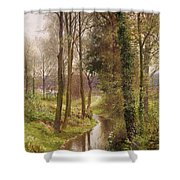 The Mill Stream Shower Curtain by Henry Sutton Palmer