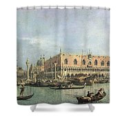 The Molo And The Piazzetta San Marco Shower Curtain by Canaletto