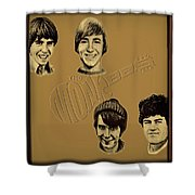 The Monkees  Shower Curtain by Movie Poster Prints