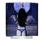 The Moon Shower Curtain by Tammy Wetzel