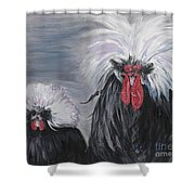 The Odd Couple Shower Curtain by Nadine Rippelmeyer