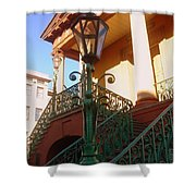 The Old City Market In Charleston Sc Shower Curtain by Susanne Van Hulst