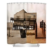 The Osprey and the Pelican Shower Curtain by Betsy C  Knapp
